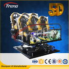 Trung Quốc 70 PCS 5D Movies + 7 PCS 7D Shooting Games Safety Theme Park Roller Coasters 5D Cinema Simulator With Hydraulic System Công ty