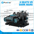 Sheet Metal 9D VR Simulator With Seat Vibration , Leg Sweep Deepoon E3 Glass