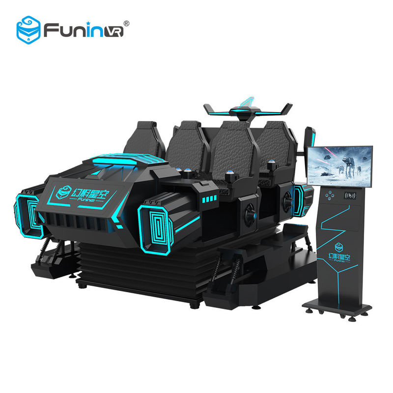 Funny 9D 6 Seats VR Cinema Chair Motion 9d VR Simulator Arcade Game Machine For Kids